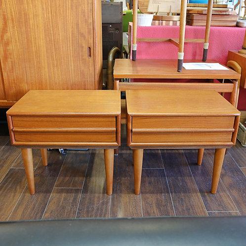 Pair of Vintage Teak Side Tables