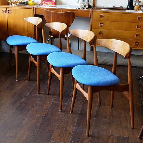 RARE CH33 Hans Wegner's dining chairs set of 4