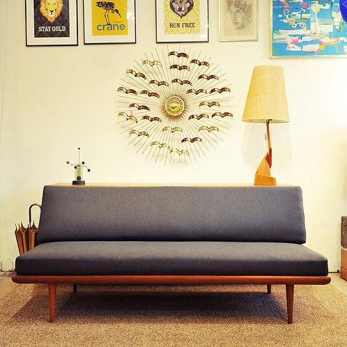 Teak Daybed Sofa Minerva by Peter Hvidt & Orla Mølgaard Nielsen