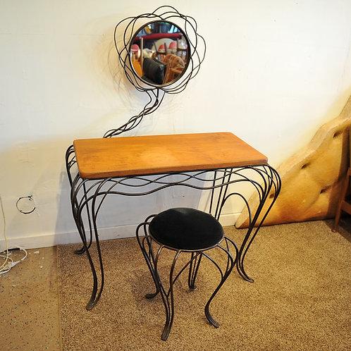 10%OFF, Modern Art Wrought Iron Vanity & Stool