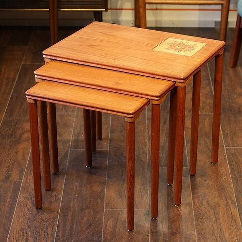 Danish Modern Teak Nesting Tables by Møbelfabrikken Toften