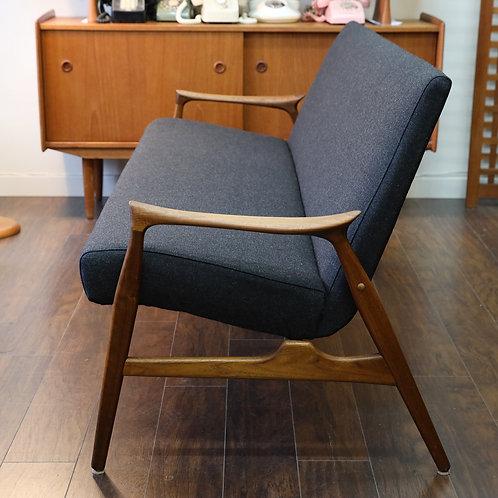 Vintage Mid-Century Modern Sofa in Style of Arne Hovmand-Olsen