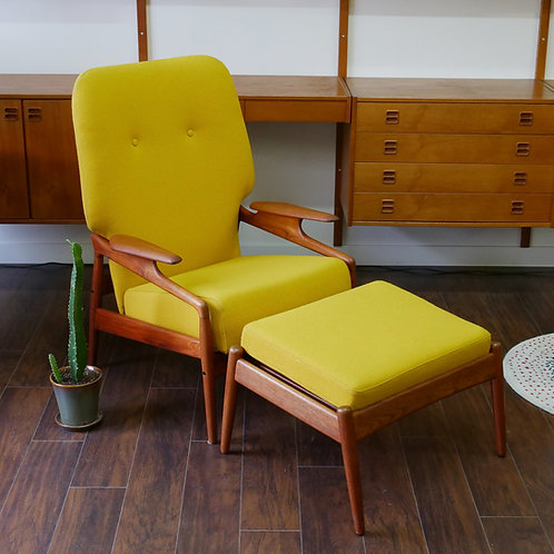 "Danish Modern Teak ""Clipper"" Chair Set by John Bone"