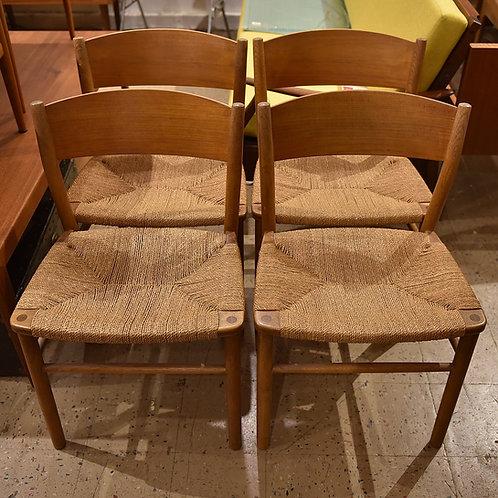 Borge Mogensen Teak & Oak Dining Chairs