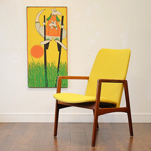 Vintage Mid Century Modern Afromosia Arm Chair