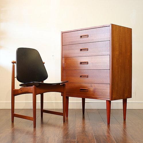 Vintage MCM Teak Tallboy Dresser