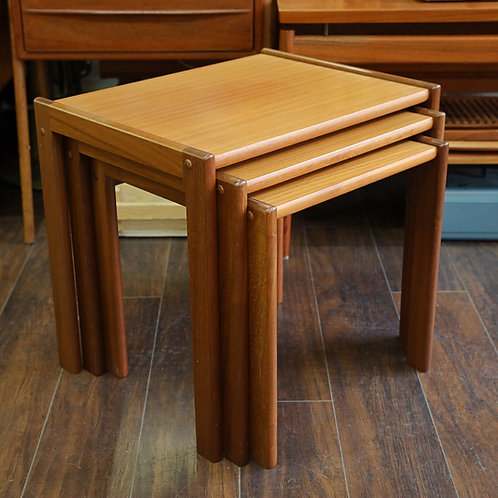 Vintage Danish Teak Nesting Tables by BRDR