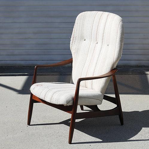 Vintage MCM Wingback Lounge Chair