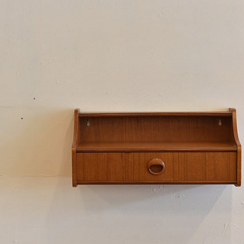 10%Off, Norway teak floating wall unit, rare and cute accent piece