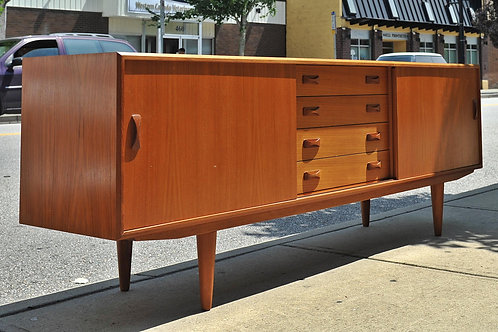 Fabulous Danish Teak Credenza by Clausen and Son
