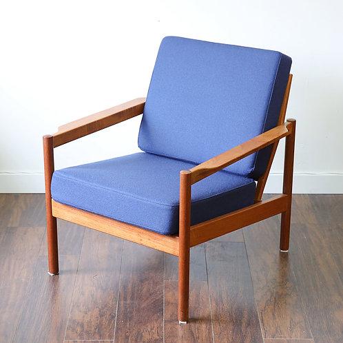 """Danish Modern Teak """"MO161"""" Easy Chair by Kai Kristiansen for Magnus Olesen"""