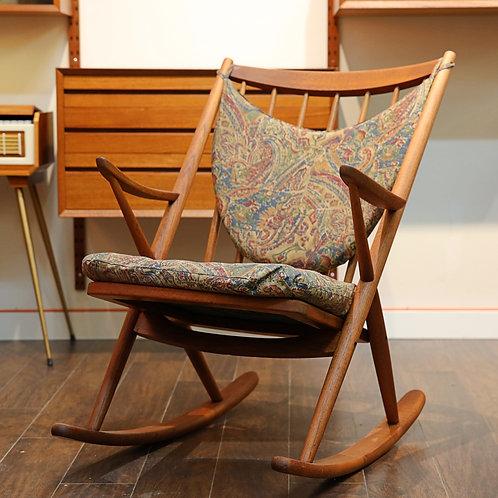 Danish Mid-century Modern Teak Rocking Chair by Frank Reenskaug for Bramin
