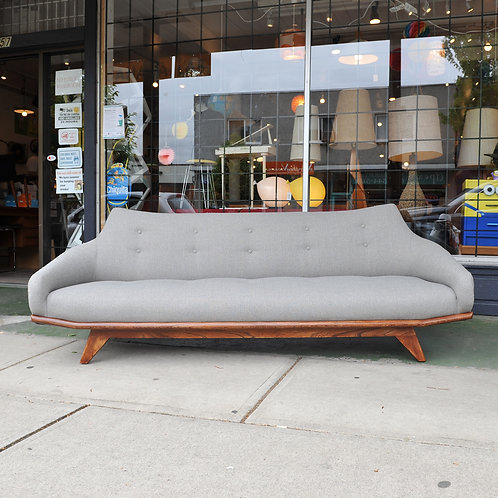 Fabulous Design, Vintage Mid Century Modern Sofa & Lounger in new fabric