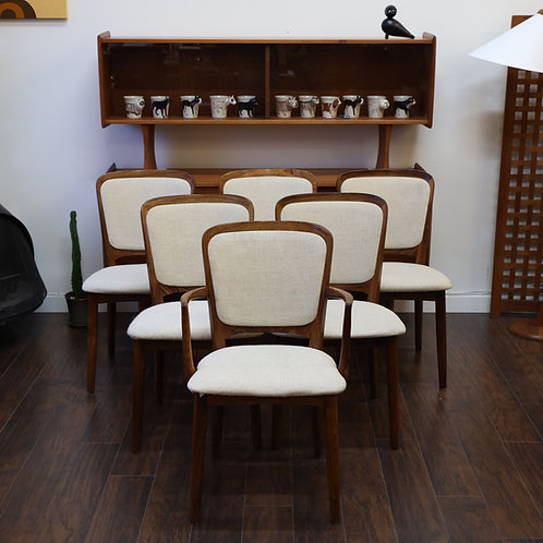 Danish Rose wood dining chairs set of 6, by Niels Koefoed