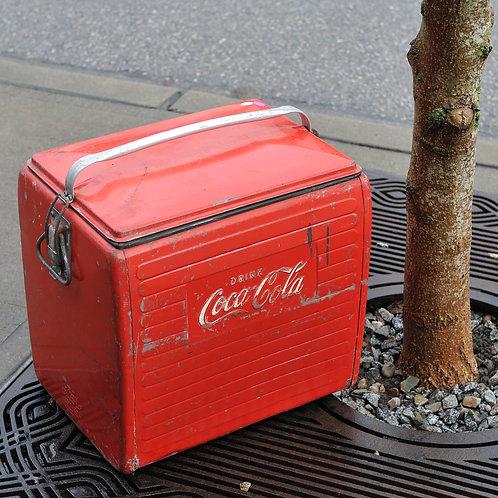 Vintage Rustic Coka Cola Cooler