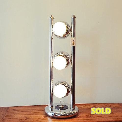 "Vintage MCM Chrome Table Lamp"""
