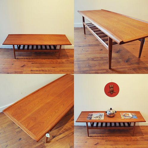 Danish Mid Century Modern Coffee Table by Grete Jalk