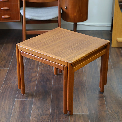 Danish Mid-Century Modern No.79 Teak Nesting Tables by Trioh