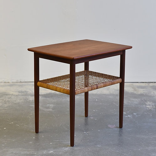 Teak coffee table with cane shelf | bananalab