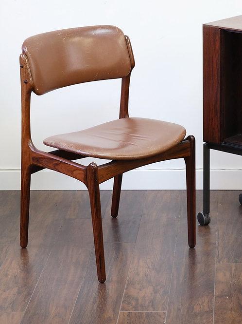 Erik Bugh Rosewood dining chair, pair (2)