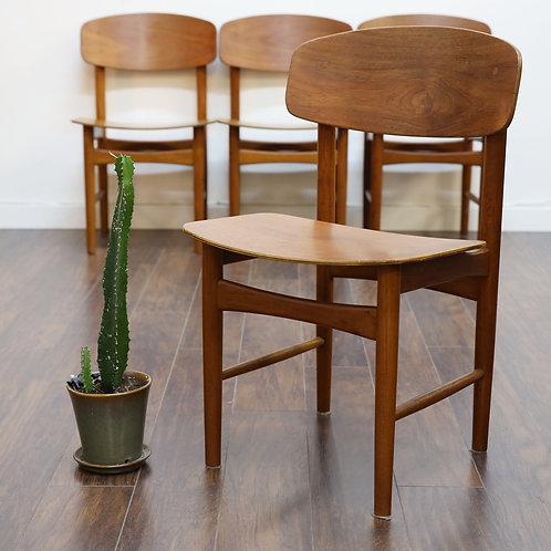 35%Off, Danish modern teak dining chairs designed by Borge Mogensen