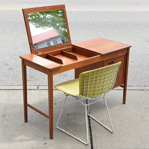 RARE Danish Mid-Century Modern Teak Desk / Vanity