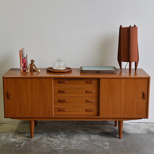 Danish Modern Teak Sideboard by Clausen & Son