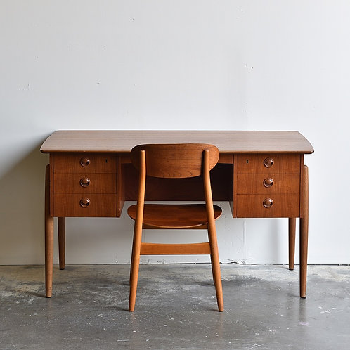 Danish Modern Teak Executive Desk