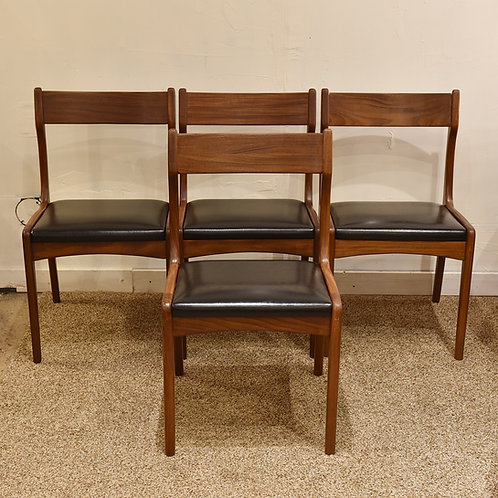 Set of 4 Vintage Dining Chairs: Restored