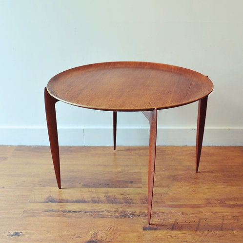 Fritz Hansen Teak Round Side Table