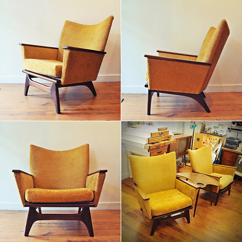 Mid Century Modern Low Wingback Loungers