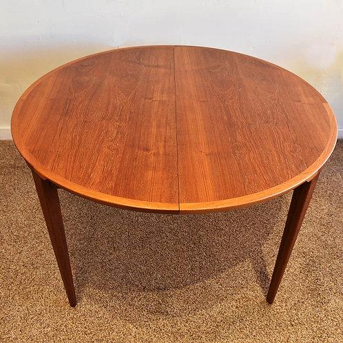 Rare Danish Modern Teak Dining Table by Rogengren Hansen for Brande Møbelfabrik