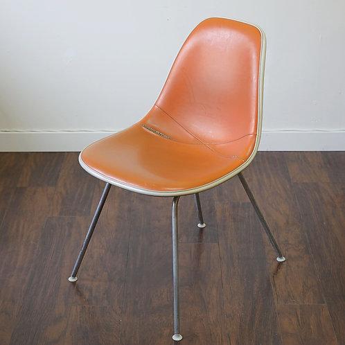 Vintage Orange Leather Herman Miller Eames Chair