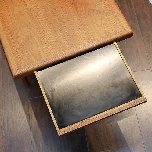 Vintage MCM Teak Coffee Table with a Hidden Formica Shelf