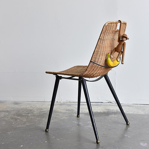 Vintage Wicker Chair, Gian Franco Legler