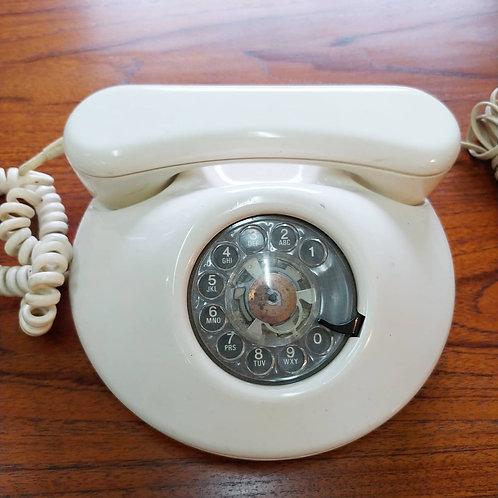 Vintage rotary phone ivory