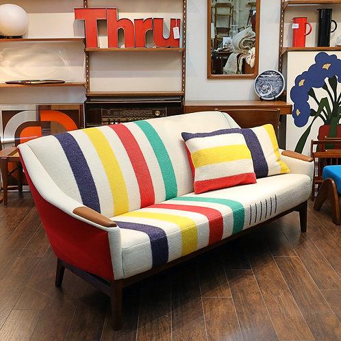 Vinage Mid-Century Modern Teak Sofa