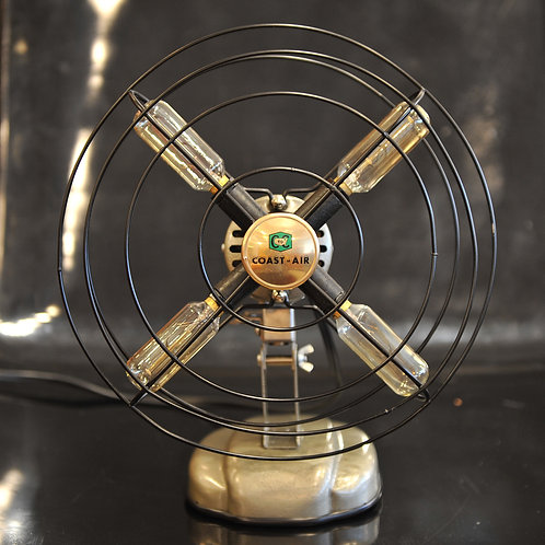 Vintage Fan Upcycled Table Lamp
