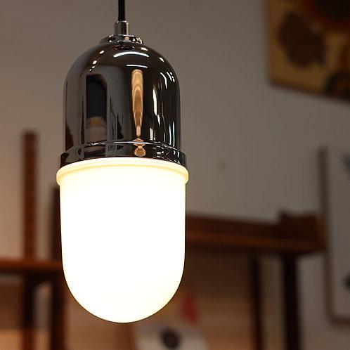 Modern Chrome Pill Pendent Lamp