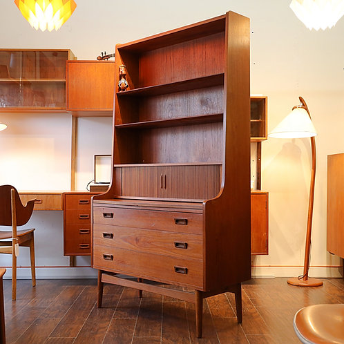 Danish Modern Teak Secretary Desk by Johannes Sorth