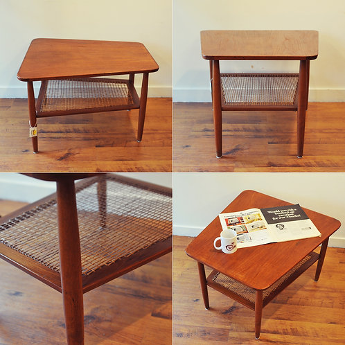 Vintage Trapezoid Shape Side Table