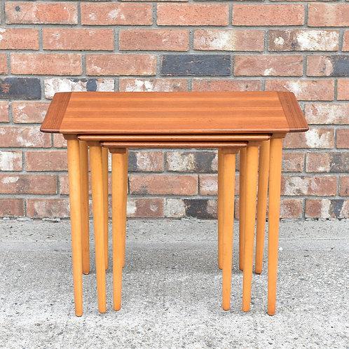 Vintage Mid-Century Modern Teak Nesting Table