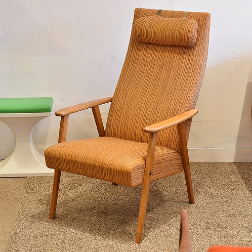 Swedish Mid-Century Modern Highback Lounge Chair