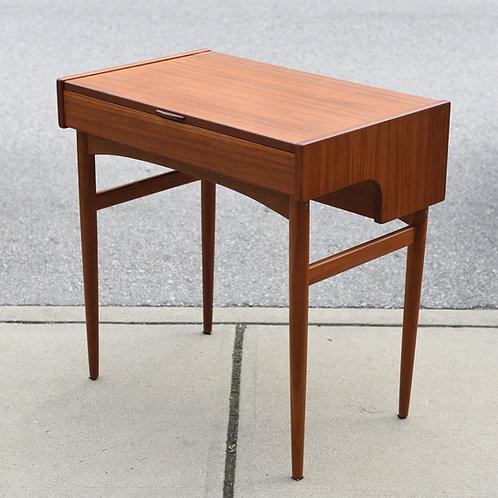 Practical Mid Century Modern Teak Vanity/Writing Desk