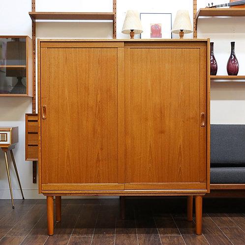 Restored Vintage MCM Teak Cabinet, Large sized