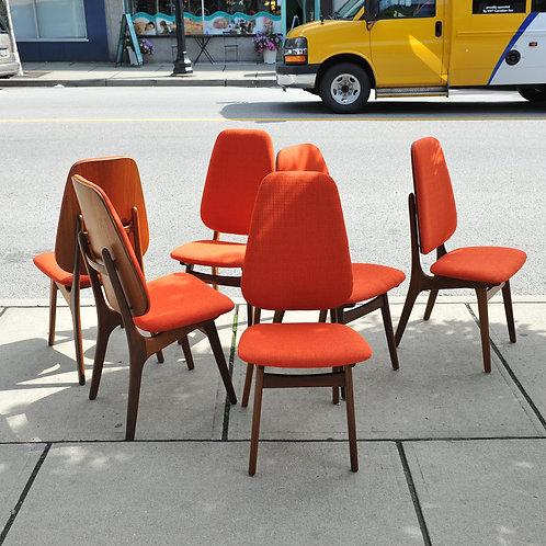 Danish MCM 6 Dining Chairs by Arne Hovmand-Olsen