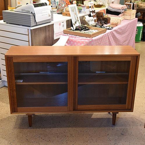 Vintage Teak Bookcase/Cabinet with Lights
