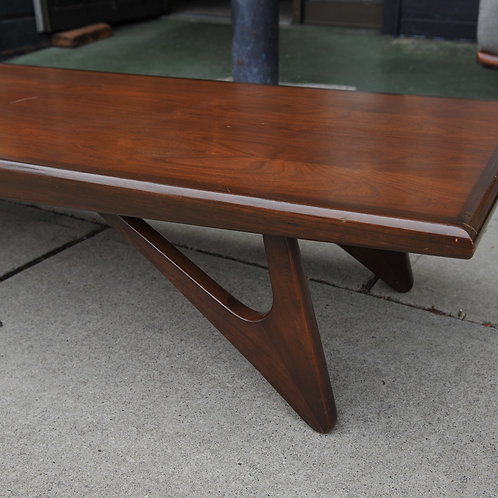 20%OFF, Mid Century Modern Walnut Coffee Table/Bench