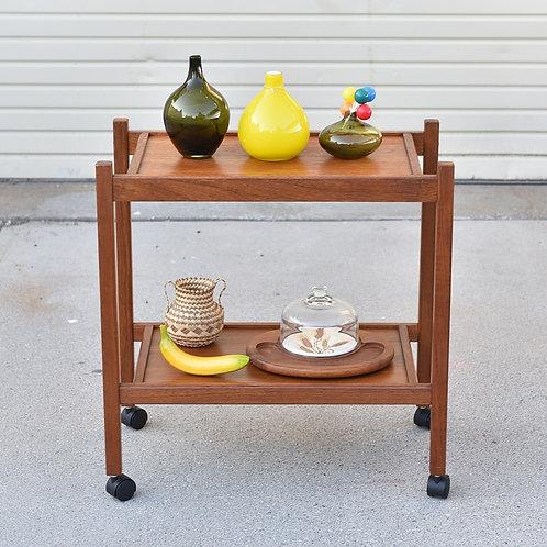 Vintage Teak Tea Cart
