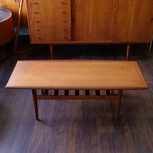 Danish teak iconic coffee table, rare medium size